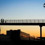 24_ЖД вокзал, во время сумерек. В лики города